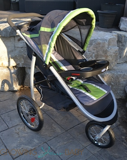 Graco FastAction Fold Jogger Click Connect Stroller - side view