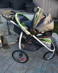 Graco FastAction Fold Jogger Click Connect Stroller - with infant seat attached