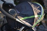 Graco FastAction Fold Jogger Click Connect Stroller - with infant seat installed above