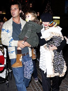 Gwen Stefani, Gavin Rossdale at the Grove in LA with Kingston and Zuma