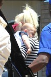 Gwen Stefani Leaves Joel Silver's Memorial Day party with son Apollo