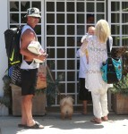 Gwen Stefani and Gavin Rossdale arrive at Rachel Zoe's house