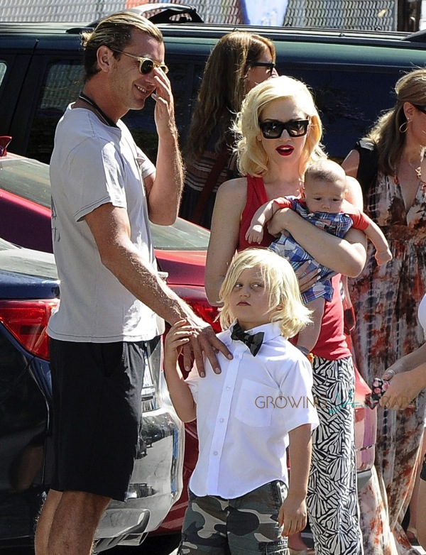 Gwen Stefani And Gavin Rossdale With Baby Apollo At Zuma S