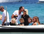Gwen Stefani and Gavin Rossdale with their children at club 55 St