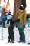 Gwen Stefani and Zuma Rossdale at Mammoth Mountain Ski Hill