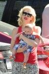 Gwen Stefani and baby Apollo at Zuma's graduation