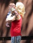 Gwen Stefani and baby Apollo at Zumas graduation