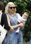 Gwen Stefani and son Apollo out in London