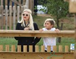 Gwen Stefani and Gavin Rossdale treat their boys Kingston and Zuma to a day at a safari park in Woburn