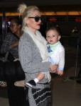 Gwen Stefani arrives at LAX with son Apollo