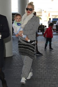 Gwen Stefani  at LAX with son Apollo