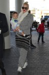 Gwen Stefani  at LAX with son Apollo