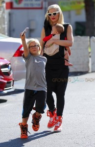 Gwen Stefani out in LA with her sons Zuma and Apollo