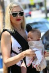 Gwen Stefani out in Santa Monica with her son Apollo - Ergo Baby