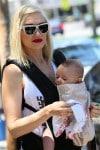 Gwen Stefani out in Santa Monica with her son Apollo - Ergo Baby