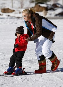 Gwen Stefani with Kingston at the 17th Annual Deer Valley Celebrity Skifest