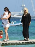 Gwen Stefani with her family at club 55 St. Tropez