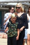 Gwen Stefani with her son Kingston at club 55 St