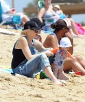 Gwen Stefani with son Apollo Rossdale at the beach