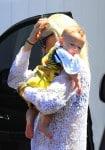 Gwen Stefani with son Apollo at Rachel Zoe's house