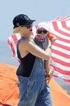 Gwen Stefani with son Apollo at the beach