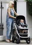 Gwen Stefani with son Apollo out in London