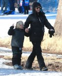 Gwen Stefani withs on Zuma at Mammoth Mountain Ski resort california
