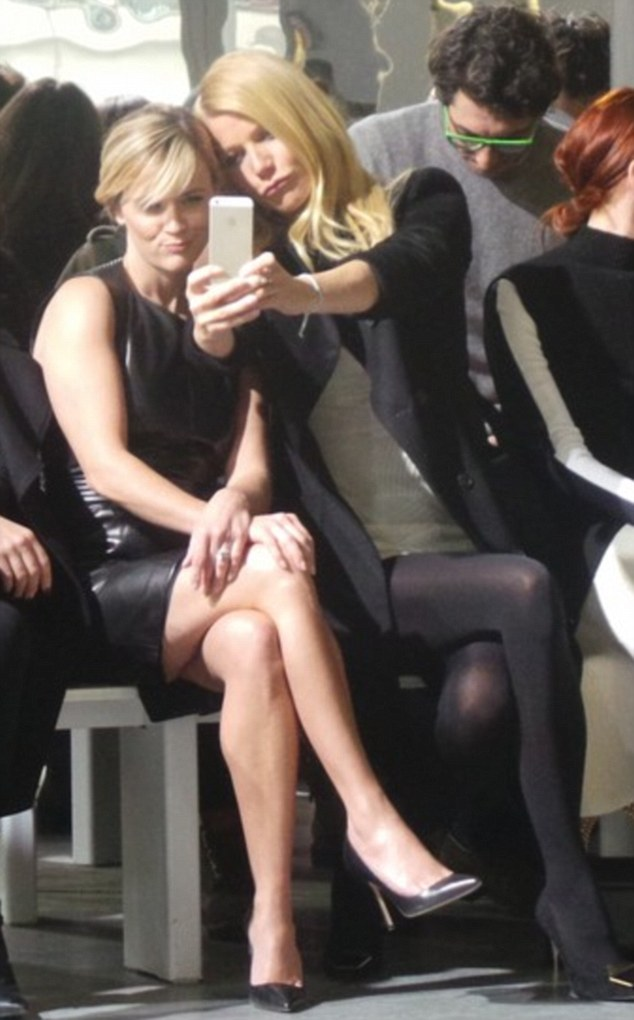 Gwyneth Paltrow and Reese Witherspoon front row at Boss Woman FW14