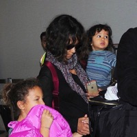 Halle Berry & Olivier Martinez Return From France With Their Kids