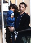 Halle Berry and Olivier Martinez with son Maceo in Paris