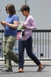 Halle Berry on the set of Extant