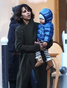 Halle Berry steps out with son Maceo Martinez in Paris