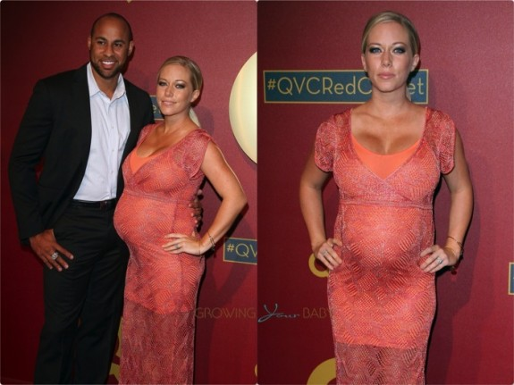Hank Baskett and a Pregnant Kendra Wilkinson attends 5th Annual QVC Red Carpet Style Event