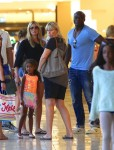 Heidi Klum and Seal out for lunch with their kids