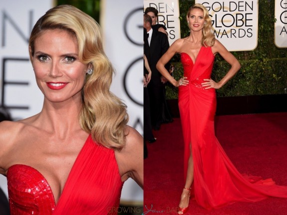 Heidi Klum at the 72nd annual Golden Globe Awards