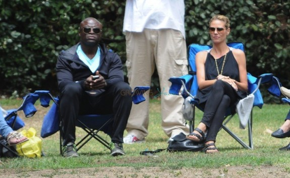 Heidi Klum with ex-husband Seal  at the Soccer field