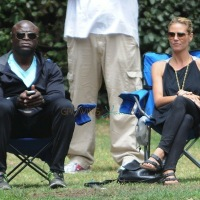Heidi Klum & Seal Re-Unite To Support Their Boys!