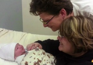Heidi and Rachel McFarland with adoptive son Gabriel