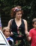 Helena Bonham Carter and husband Tim Burton take stroll through Hampstead with their two children, Billy & Nell