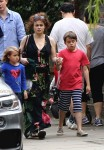 Helena Bonham Carter and husband Tim Burton take stroll through Hampstead with their two children, Billy and Nell