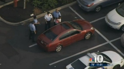 Helicopters video baby being rescued from locked car outside Walmart Philadelphia