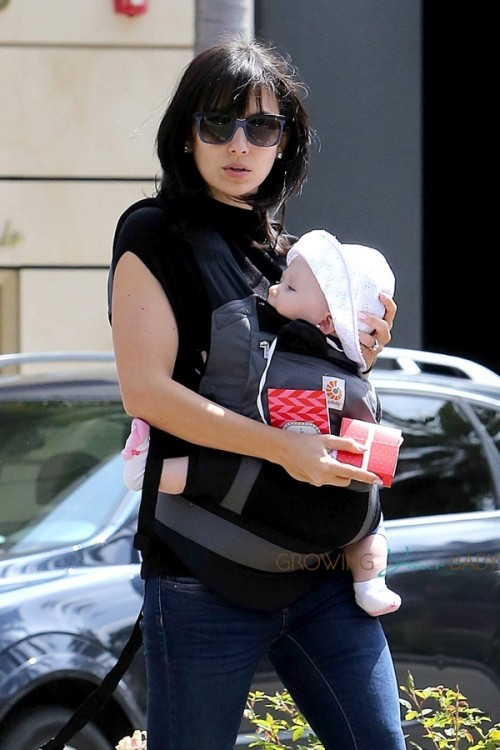 Hilaria Baldwin out with daughter Carmen in LA