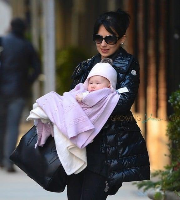 Hilaria Baldwin with daughter Carmen