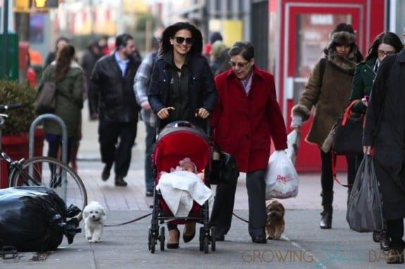 Hilaria & Carmen Baldwin step in NYC