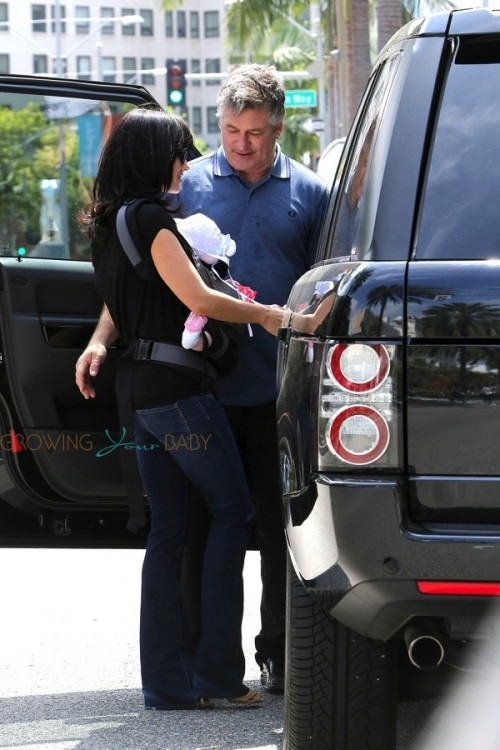 Hilaria and Alec Baldwin out with daughter Carmen in LA