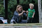 Hilary Duff plays son Luca out at the park in LA
