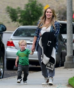 Hilary Duff with son Luca out in LA