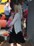 Holly Madison with her daughter Rainbow @ Mr. Bones Pumpkin Patch