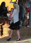 Holly Madison with her daughter Rainbow at Mr. Bones Pumpkin Patch in LA
