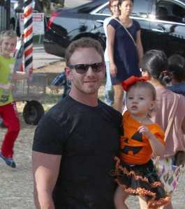 Ian Ziering with daughter Penna at Mr